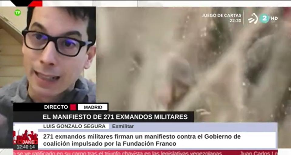 """Luis Gonzalo Segura, exmilitar: """"Realizamos un manifiesto antifranquista y conseguimos 30 firmas»"""